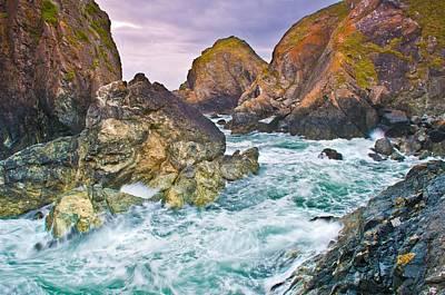 Painting - Rugged Cornish Rocks by Cornish Scenes