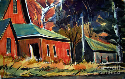 Rugged Hoosiers Matted Original by Charlie Spear