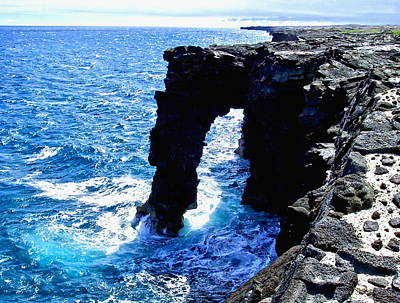 Rugged Kona Sea Arch Art Print by Amy McDaniel