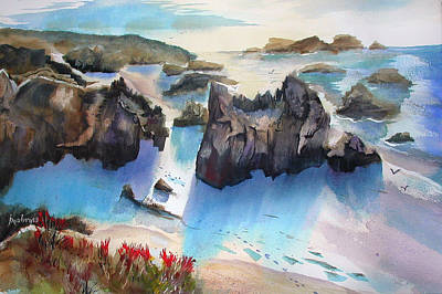 Painting - Marin Lovers Coastline by John Mabry