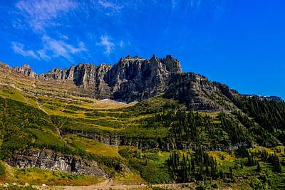 Photograph - Rugged Mountain, Glacier National Park by Marilyn Burton