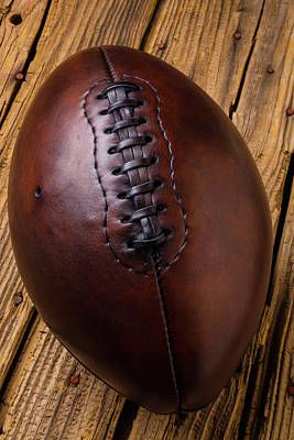 Photograph - Rugged Old Football by Garry Gay