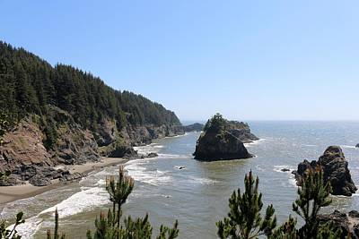 Photograph - Rugged Oregon Coast - 3 by Christy Pooschke