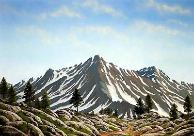Pacific Crest Trail Painting - Rugged Peaks by Frank Wilson