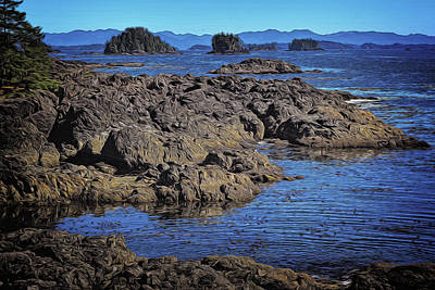 Digital Art - Rugged West Coast Shoreline by Richard Farrington