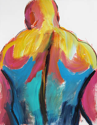 Painting - Rugger Man Broad Back by Shungaboy X