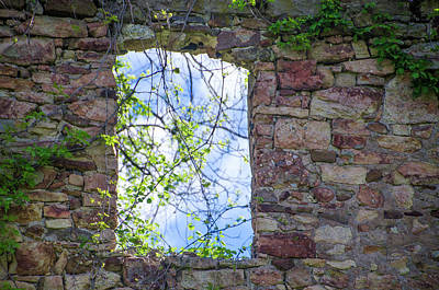 Bridgetown Photograph - Ruin Of A Window - Bridgetown Millhouse  Bucks County Pa by Bill Cannon