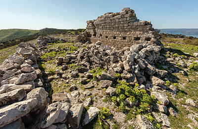 Go For Gold - Ruin of an ancient chapel in Cres Croatia by Stefan Rotter