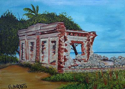 Ruinas Del Faro En Aguadilla Print by Gloria E Barreto-Rodriguez