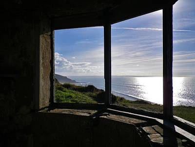 Photograph - Ruined Coastguard Lookout Sharpnose Point Cornwall by Richard Brookes