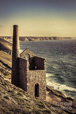 Cornish Wall Art - Photograph - Ruined Cornish Tin Mine by Amanda Elwell