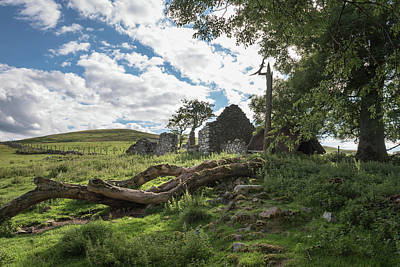 Photograph - Ruined Cottage by Gary Eason