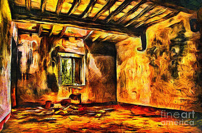 Mixed Media - Ruined Room by Milan Karadzic