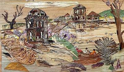 Ruins Mixed Media - Ruined Structures  by Basant Soni