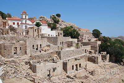 Photograph - Ruined Village On Tilos by David Fowler