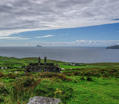 Photograph - Ruins And Skellig Michael by Elvis Vaughn