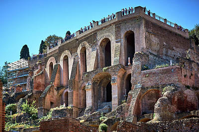 Photograph - Ruins At The Roman Forum by Eduardo Jose Accorinti
