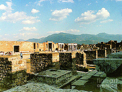 Photograph - Ruins Being Restored In Pompei, Italy by Merton Allen