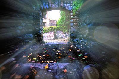 Ruins Entrance Print by Lilia D