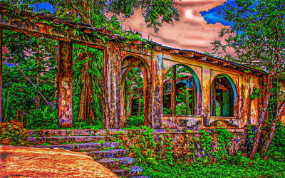 Photograph - Ruins In Jamaica by John M Bailey