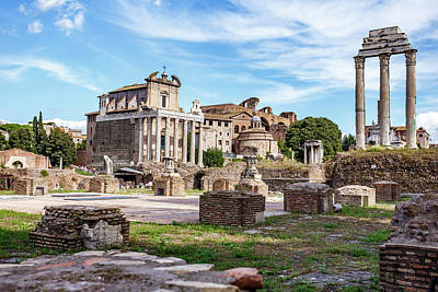 Temple Of Castor And Pollux Photograph - Ruins In The Roman Forum by Cara Koch
