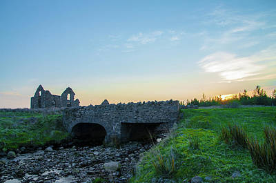Irish Photograph - Ruins - Lough Easkie Hunting Lodge County Sligo by Bill Cannon