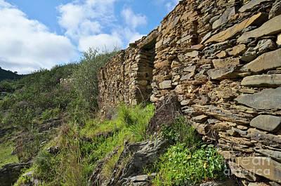 Ruins Of A Schist Cottage In Alentejo Art Print by Angelo DeVal