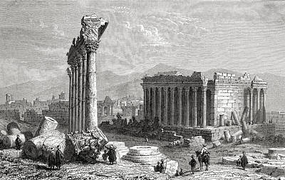Archaeology Drawing - Ruins Of Baalbek, Lebanon, As Seen In by Vintage Design Pics