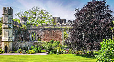 Photograph - Ruins Of Bishops Palace Wells England by Lexa Harpell