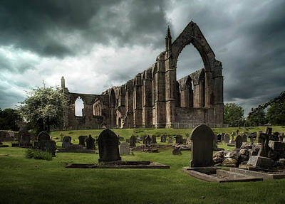 Photograph - Ruins Of Bolton Abbey by Jaroslaw Blaminsky