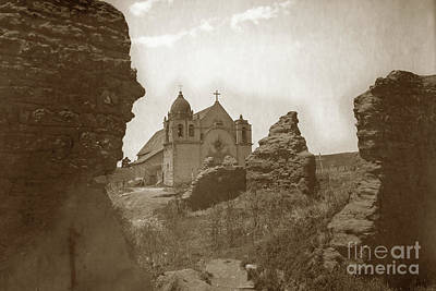 Photograph - Ruins Of Carmel Mission And Mission Church Circa 1905 by California Views Mr Pat Hathaway Archives