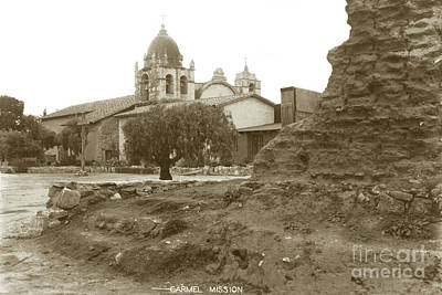 Photograph - Ruins Of Carmel Mission Circa 1924 by California Views Mr Pat Hathaway Archives