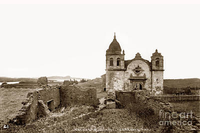 Photograph - Ruins Of Carmel Mission, Monterey, Cal. Circa 1882 by California Views Archives Mr Pat Hathaway Archives