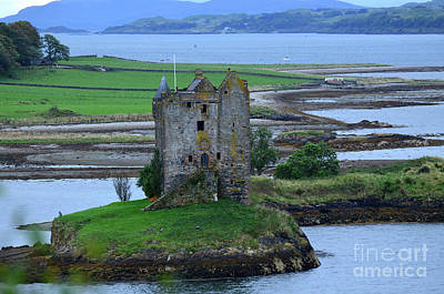 Ruins Of Castle Stalker In Scotland Art Print by DejaVu Designs