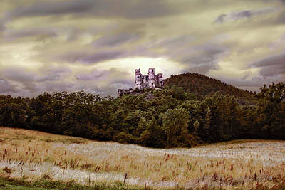 Photograph - Ruins Of Chateau De Domeyrat Castle, Auvergne, France by Menega Sabidussi
