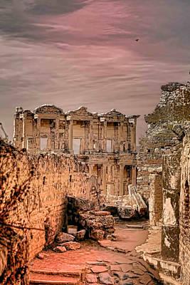 Ruins Of Ephesus Art Print by Tom Prendergast