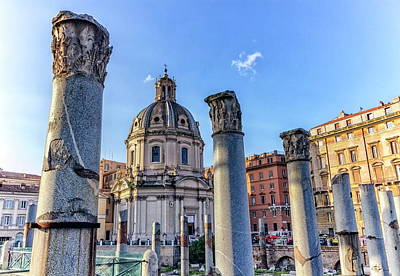 Photograph - Ruins Of Forum Romanum On Capitolium Hill In Rome, Italy by Elenarts - Elena Duvernay photo