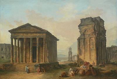 Painting - Ruins Of Nimes  by Hubert Robert