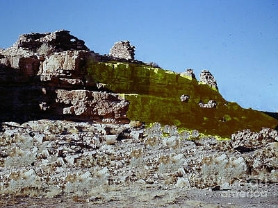 Photograph - Ruins Of Old Indian Dwelling - Arizona by Merton Allen