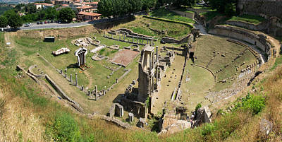Roman Ruins Photograph - Ruins Of Roman Theater, Volterra by Panoramic Images