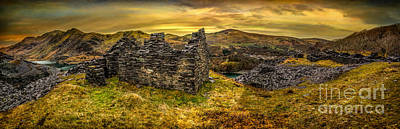 North Wales Digital Art - Ruins Of Snowdonia Panorama by Adrian Evans