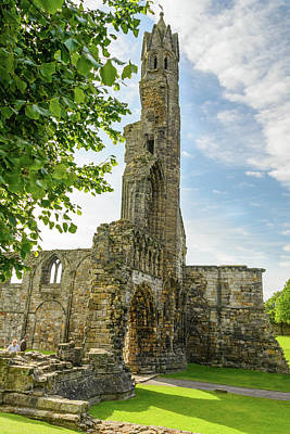 Photograph - Ruins Of St. Andrews Cathedral #2 by Elvis Vaughn