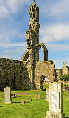 Photograph - Ruins Of St. Andrews Cathedral  by Elvis Vaughn
