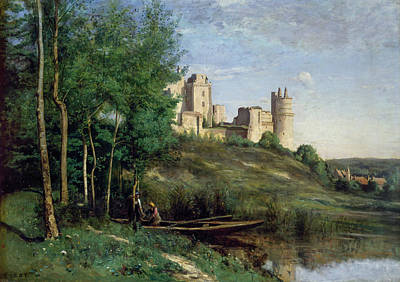 Chateau Painting - Ruins Of The Chateau De Pierrefonds by Camille Corot