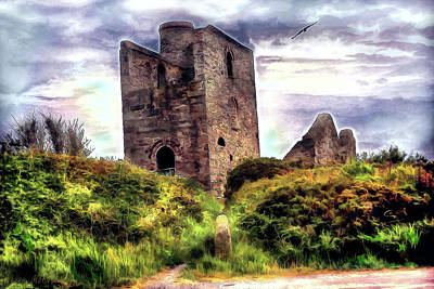 Ruins Of The Old Tin Mine Art Print