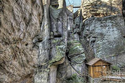 Photograph - Ruins Of The Rock Castle Drabske Svetnicky by Michal Boubin