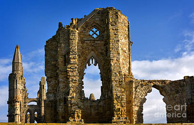 Whitby Abbey Photograph - Ruins Of Whitby Abbey by Louise Heusinkveld