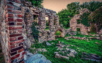 Uncle Sam Posters - Ruins of Whites Factory - Brick Lookout by Black Brook Photography