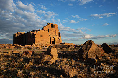 Photograph - Ruins Of Yereruyk Temple Under Amazing Cloudscape, Armenia by Gurgen Bakhshetsyan