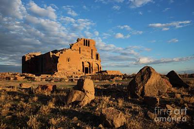 Photograph - Ruins Of Yereruyk Temple Under Amazing Cloudscape, Armenia by Gurgen Bakhshetsyan